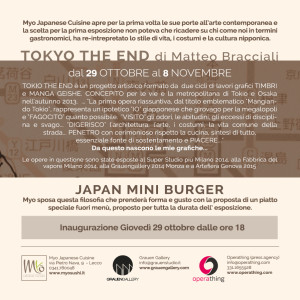 Flyer Tokio The End Myo retro
